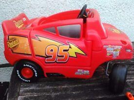 Lightning McQueen sit in car