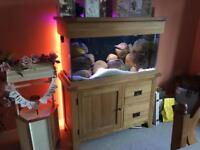 Aqua oak 200ltr aquarium fish tank, full set up