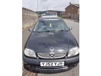 CITROEN SAXO FOR SALE. Black with alloy wheels, twin exhaust and spoiler.