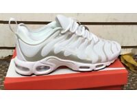 Nike Tn Ultra white all sizes, Free delivery
