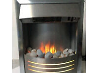 Silver electric fire