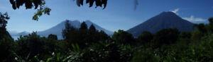 San Marcos La Laguna, Lake Atitlan, Guatemala,  Volcano lake vie