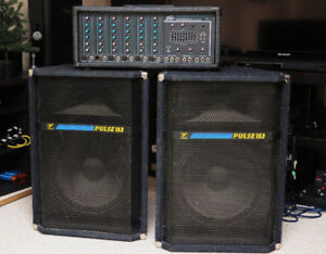 Peavey powered mixer + Yorkville Pulse speakers