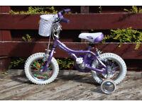 Girls Purple GIANT Pudd'n small bike (12 inch wheels)