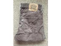 Levi's 551 brown corduroy jeans vintage 32W 32L