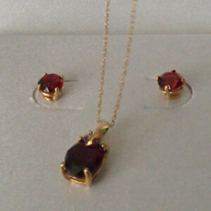 Genuine Garnet set...10K Gold