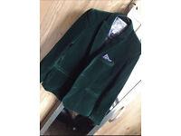 MONSOON green velvet blazer 11-12 years