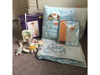 Joules on the farm cot bedding set