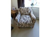 Marks and Spencer Feature Chair - Cream and Brown. Gorgeous!