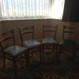 4 X dining room chairs.