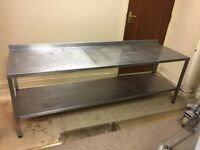 Large stainless Steel catering preparation table