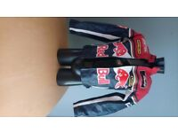 LEATHER MOTORBIKE RACING JACKET SIZE SMALL