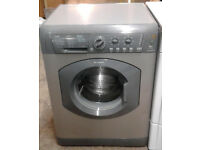 c034 graphite hotpoint 6kg 1400spin washing machine come with warranty can be delivered or collected