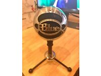 Chrome Blue Snowball USB Microphone