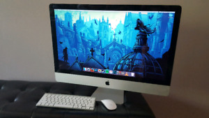 """2011 27"""" Apple iMac w/ keyboard and mouse"""