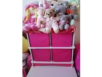 4 draw storage in pink