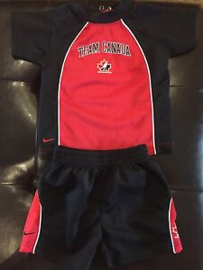 Team Canada jersey and shorts