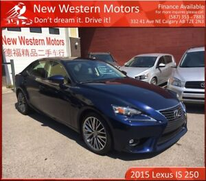 2015 Lexus IS 250 ONE OWNER! ACCIDENT FREE! BCAM! SUNROOF!