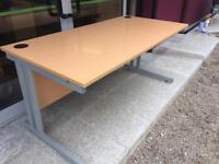 Modern beech 1600 desk