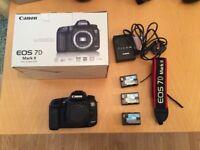 Canon 7d Mark ii + 3x Genuine Canon Batteries + Original Box, Excellent Condition.