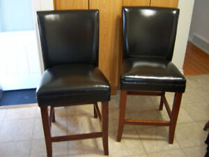 2 Black  Counter Height Stools - 26''