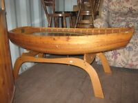 Hand Crafted scaled down boat coffee table