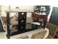 TV STAND IN BLACK EXCELLENT CONDITION