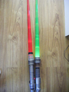 2 Star Wars Collectible Lightsabers