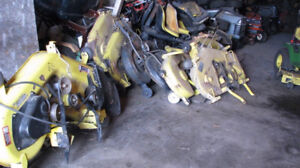 assorted mower decks for sale! JOHN DEERE, CRAFTSMAN & MORE!