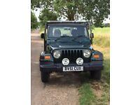 2002, Jeep Wrangler 4.0L, 174 bhp, low mileage 57,000