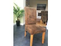 Oak Dining room table and 6 high back chairs