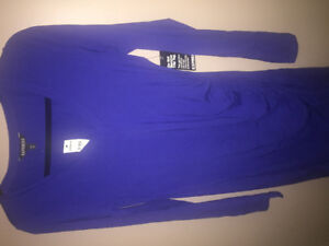 Express Blue Stretchy Ruched Dress