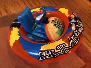 Motorized inflatable boat for small kids