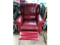 Two Leather recliner chairs with free man with a van delivery