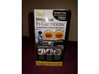 Universal car phone holder, silicone grip, new