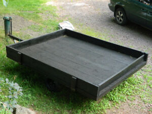 $575 OR BEST OFFER.  Solid wood Utility Trailer. EXCELLENT COND