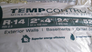 Bags of R14 mineral wool insulation