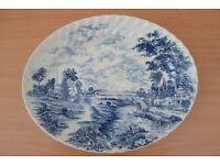 Large serving platter by Bluebrook. Hand engraved