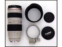 Canon EF 70-200mm F/2.8 L EF USM Telephoto Zoom Mount Lens for EOS Cameras, bag & Hoya filter