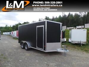 NEW 2018 STEALTH 7X16' ALUMINIUM CARGO TRAILER- FLAT BLACK
