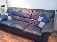 Leather sofa's , 3 seater and 2 seater, good quality and condition