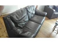 Couch brown, easy clean!