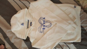 BRAND NEW WHITE/BLUE TNA HOODIE & PANTS (XS)