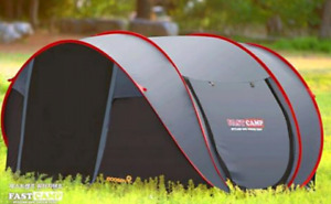 Super quick one touch pop up tent for 5 people. Instant pop up.