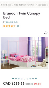 Pink canopy beds
