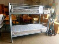 Brand new metal bunk bed frame (mattresses sold seperately)