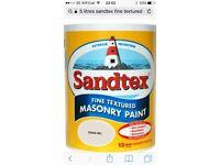 Sandtex masonary textured paint 40litres chalk hill
