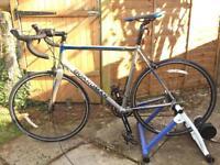Boardman Sport Road Bike and Turbo Trainer