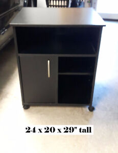 Quality Microwave Cart on wheels with storage