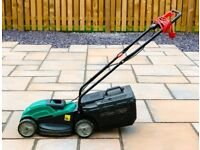 Nearly new Qualcast electric lawn mower.